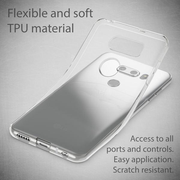 NALIA Handyhülle kompatibel mit LG V30, Ultra-Slim TPU Silikon Case Cover Crystal Clear Schutzhülle Dünn Durchsichtig, Etui Hülle Handy-Tasche Backcover Transparent, Smart-Phone Schutz Bumper – Bild 3