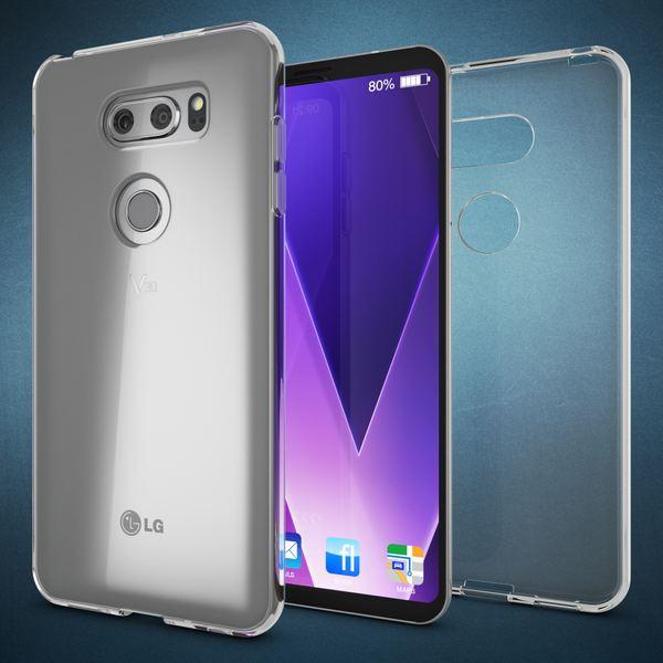 NALIA Handyhülle kompatibel mit LG V30, Ultra-Slim TPU Silikon Case Cover Crystal Clear Schutzhülle Dünn Durchsichtig, Etui Hülle Handy-Tasche Backcover Transparent, Smart-Phone Schutz Bumper – Bild 6
