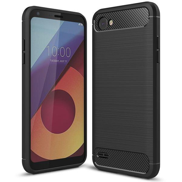 NALIA Handyhülle für LG Q6, Ultra Slim Silikon Case Cover, Dünne Crystal Phone Schutzhülle, Stoßfeste Etui Handy-Tasche Back-Cover Bumper, TPU Gummihülle für LG Q-6 Smartphone - Schwarz – Bild 1