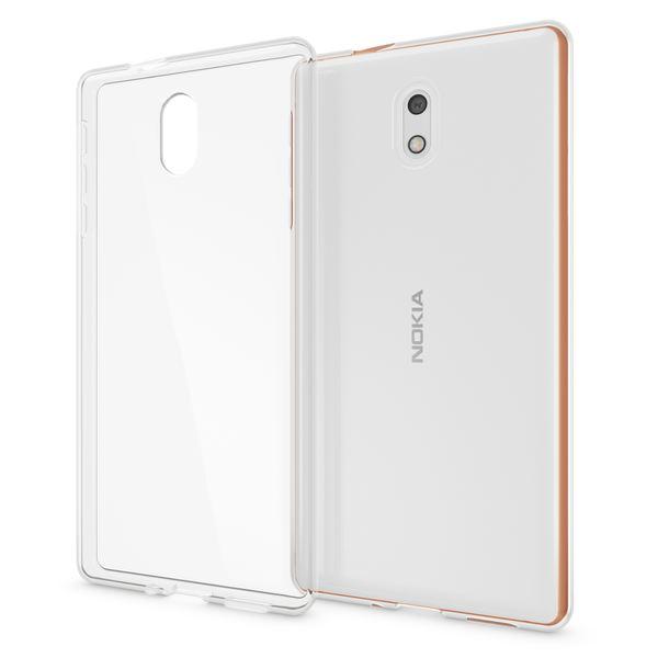 NALIA Handyhülle kompatibel mit Nokia 3, Ultra-Slim TPU Silikon Case Cover Crystal Clear Schutzhülle Dünn Durchsichtig, Etui Hülle Handy-Tasche Backcover Transparent, Smartphone Schutz Bumper – Bild 1