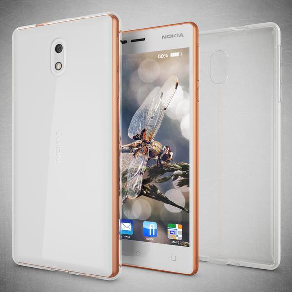 NALIA Handyhülle kompatibel mit Nokia 3, Ultra-Slim TPU Silikon Case Cover Crystal Clear Schutzhülle Dünn Durchsichtig, Etui Hülle Handy-Tasche Backcover Transparent, Smartphone Schutz Bumper – Bild 5