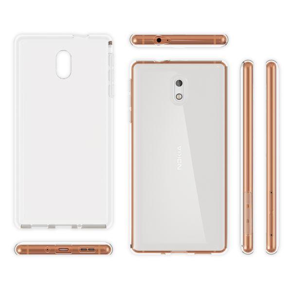 NALIA Handyhülle kompatibel mit Nokia 3, Ultra-Slim TPU Silikon Case Cover Crystal Clear Schutzhülle Dünn Durchsichtig, Etui Hülle Handy-Tasche Backcover Transparent, Smartphone Schutz Bumper – Bild 4