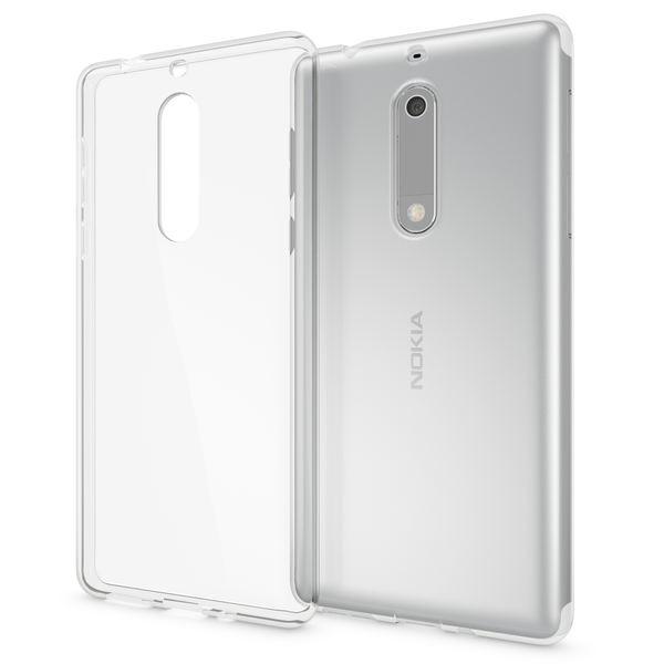 NALIA Handyhülle kompatibel mit Nokia 5, Ultra-Slim TPU Silikon Case Cover Crystal Clear Schutzhülle Dünn Durchsichtig, Etui Hülle Handy-Tasche Backcover Transparent, Smartphone Schutz Bumper – Bild 1