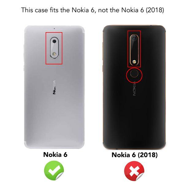 NALIA Handyhülle kompatibel mit Nokia 6, Ultra-Slim TPU Silikon Case Cover Crystal Clear Schutzhülle Dünn Durchsichtig, Etui Hülle Handy-Tasche Backcover Transparent, Smartphone Schutz Bumper – Bild 4