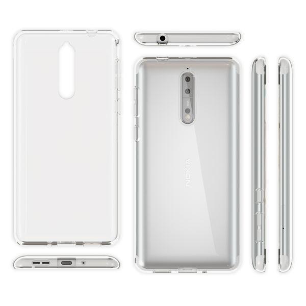 NALIA Handyhülle kompatibel mit Nokia 8, Ultra-Slim TPU Silikon Case Cover Crystal Clear Schutzhülle Dünn Durchsichtig, Etui Hülle Handy-Tasche Backcover Transparent, Smartphone Schutz Bumper – Bild 3