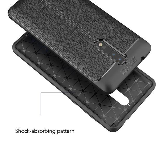 NALIA Leder-Look Hülle kompatibel mit Nokia 8, Ultra-Slim Silikon Case Cover, Dünne Phone Schutzhülle, Stoßfeste Etui Handy-Tasche Backover Handyhülle Bumper, TPU Smartphone Gummihülle - Schwarz – Bild 6