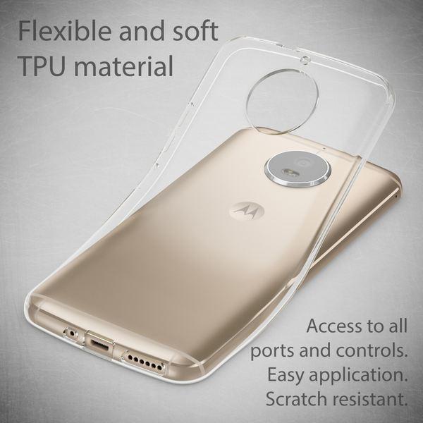 NALIA Handyhülle für Motorola Moto G5S, Soft Slim TPU Silikon Case Cover Crystal Clear Schutz-hülle Dünn Durchsichtig, Back Etui Handy-Tasche Transparent, Smart-Phone Bumper für Moto-G5S – Bild 3