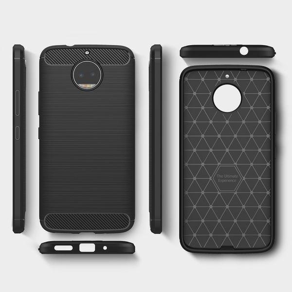 NALIA Handyhülle kompatibel mit Motorola Moto G5S Plus, Ultra-Slim Silikon Case Cover, Dünne Crystal Phone Hülle Schutzhülle, Stoßfeste Etui Handy-Tasche Backcover Bumper, TPU Gummihülle  - Schwarz – Bild 6