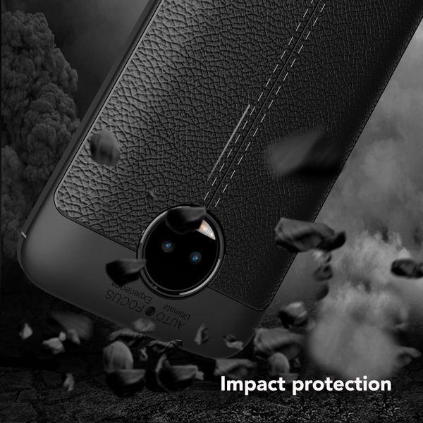 NALIA Leder-Look Hülle kompatibel mit Motorola Moto G5S Plus, Ultra-Slim Silikon Case Cover, Dünner Phone Schutzhülle Handyhülle Stoßfeste Etui Handy-Tasche Backcover Bumper, TPU Gummihülle - Schwarz – Bild 5
