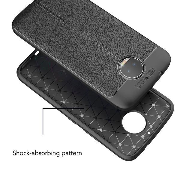 NALIA Leder-Look Hülle kompatibel mit Motorola Moto G5S Plus, Ultra-Slim Silikon Case Cover, Dünner Phone Schutzhülle Handyhülle Stoßfeste Etui Handy-Tasche Backcover Bumper, TPU Gummihülle - Schwarz – Bild 6
