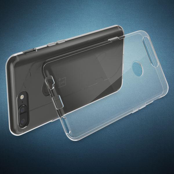 NALIA Handyhülle kompatibel mit OnePlus 5T, Ultra-Slim TPU Silikon Case Cover Crystal Clear Schutzhülle Dünn Durchsichtig, Etui Hülle Handy-Tasche Backcover Transparent Rückseite, Smartphone Bumper – Bild 2