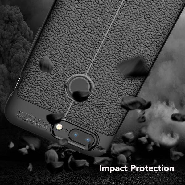NALIA Leder-Look Hülle kompatibel mit OnePlus 5T, Ultra-Slim Silikon Case Cover, Dünne Schutzhülle Handyhülle Stoßfestes Etui Handy-Tasche Backcover Bumper, TPU Gummihülle Smart-Phone - Schwarz – Bild 5