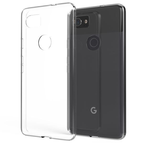 NALIA Handyhülle kompatibel mit Google Pixel 2 XL, Soft Slim TPU Silikon Case Cover Crystal Clear Schutz-Hülle Dünn Durchsichtig, Etui Handy-Tasche Backcover Transparent Rückseite, Bumper – Bild 1