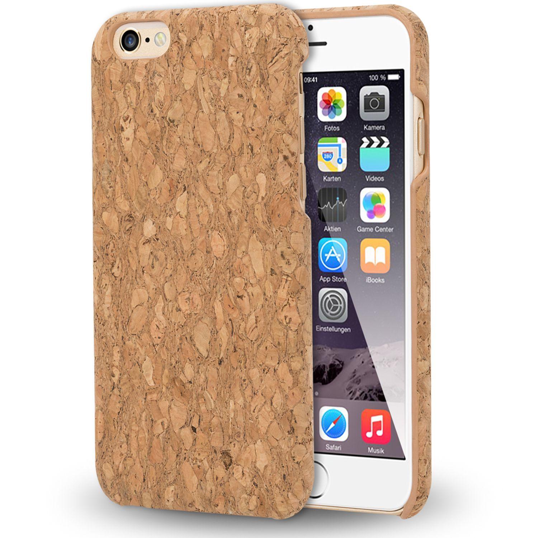 apple iphone 6 6s kork handy h lle von nalia holz look. Black Bedroom Furniture Sets. Home Design Ideas