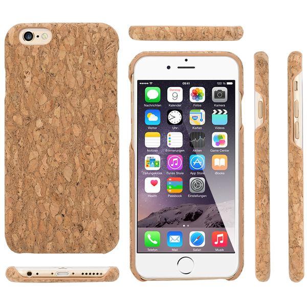 NALIA Kork Hülle kompatibel mit iPhone 6 6S, Natur-Holz Look Handyhülle Handy-Tasche Dünnes Ultra-Slim Hardcase Schutz Etui Backcover Bumper Cover Case Schutzhülle – Bild 5