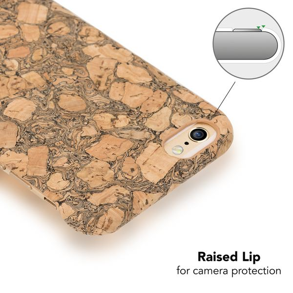 NALIA Kork Hülle kompatibel mit iPhone 6 6S, Natur-Holz Look Handyhülle Handy-Tasche Dünnes Ultra-Slim Hardcase Schutz Etui Backcover Bumper Cover Case Schutzhülle – Bild 8