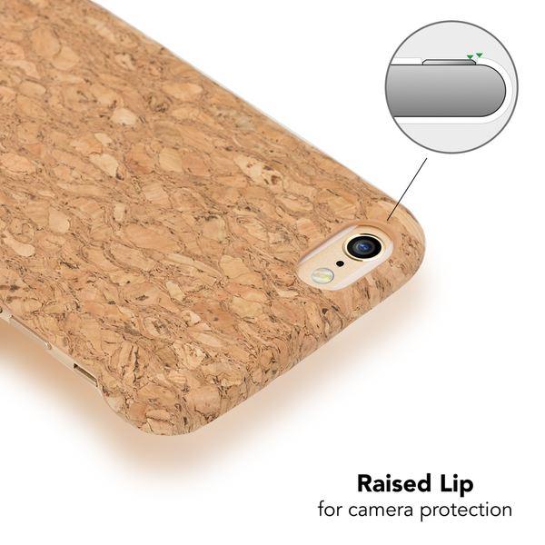 NALIA Kork Hülle kompatibel mit iPhone 6 6S, Natur-Holz Look Handyhülle Handy-Tasche Dünnes Ultra-Slim Hardcase Schutz Etui Backcover Bumper Cover Case Schutzhülle – Bild 13