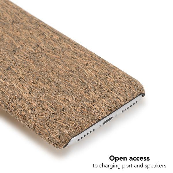 NALIA Kork Hülle kompatibel mit iPhone 8 / 7, Natur-Holz Look Handyhülle Handy-Tasche Dünnes Ultra-Slim Hardcase Schutz Etui Backcover Bumper Cover Case Schutzhülle – Bild 7