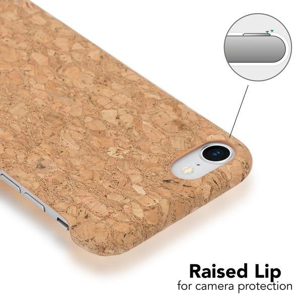 NALIA Kork Hülle kompatibel mit iPhone 8 / 7, Natur-Holz Look Handyhülle Handy-Tasche Dünnes Ultra-Slim Hardcase Schutz Etui Backcover Bumper Cover Case Schutzhülle – Bild 15