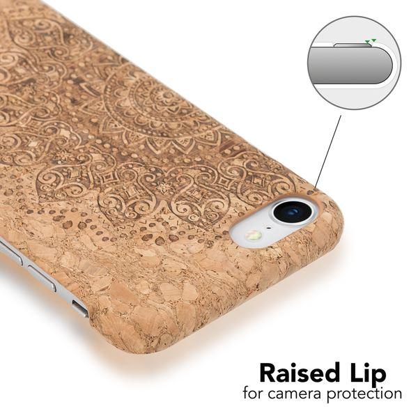 NALIA Kork Hülle kompatibel mit iPhone 8 / 7, Natur-Holz Look Handyhülle Handy-Tasche Dünnes Ultra-Slim Hardcase Schutz Etui Backcover Bumper Cover Case Schutzhülle – Bild 21