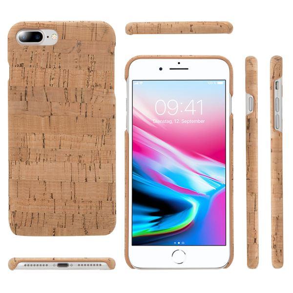 iPhone 8 Plus / 7 Plus  Kork Hülle Handyhülle von NALIA, Natur-Holz Look Handy-Tasche Dünnes Ultra-Slim Hard-Case Schutz Etui Back-Cover Bumper für Apple i-Phone 7+ / 8+ – Bild 6