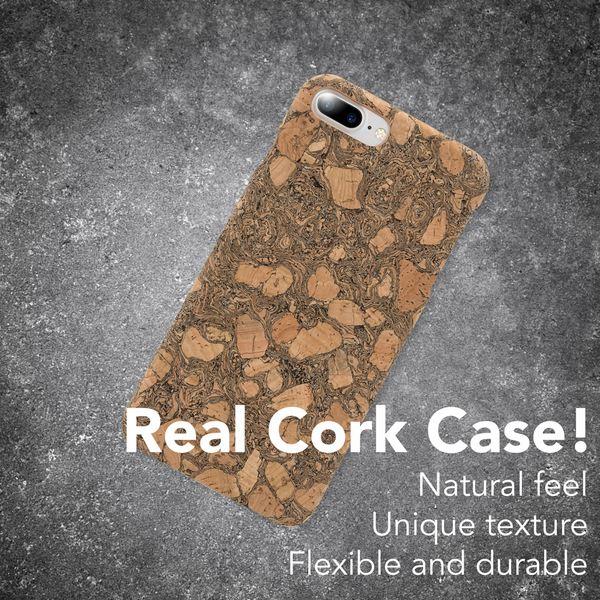 NALIA Kork Hülle kompatibel mit iPhone 8 Plus / 7 Plus, Natur-Holz Look Handyhülle Handy-Tasche Dünnes Ultra-Slim Hardcase Schutz Etui Back-Cover Bumper Case Schutzhülle – Bild 10