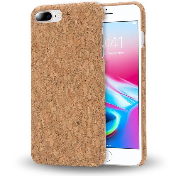 iPhone 8 Plus / 7 Plus  Kork Hülle Handyhülle von NALIA, Natur-Holz Look Handy-Tasche Dünnes Ultra-Slim Hard-Case Schutz Etui Back-Cover Bumper für Apple i-Phone 7+ / 8+ – Bild 14