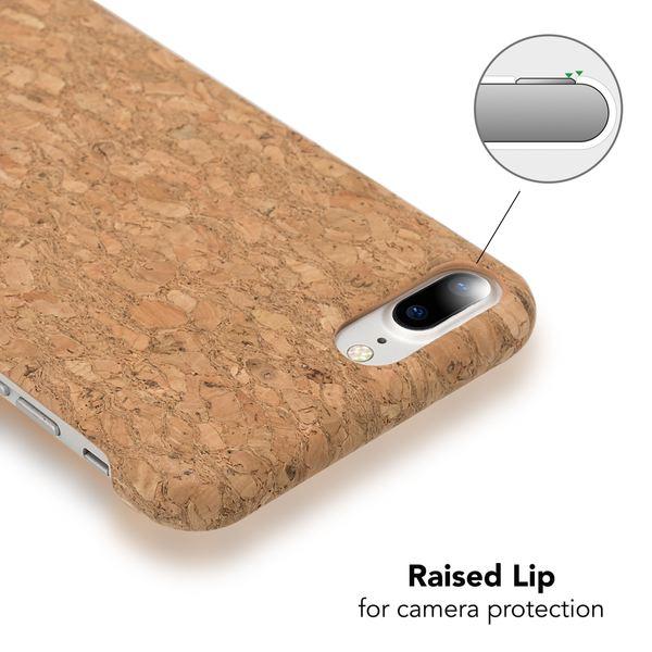 iPhone 8 Plus / 7 Plus  Kork Hülle Handyhülle von NALIA, Natur-Holz Look Handy-Tasche Dünnes Ultra-Slim Hard-Case Schutz Etui Back-Cover Bumper für Apple i-Phone 7+ / 8+ – Bild 15