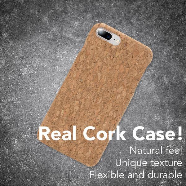 iPhone 8 Plus / 7 Plus  Kork Hülle Handyhülle von NALIA, Natur-Holz Look Handy-Tasche Dünnes Ultra-Slim Hard-Case Schutz Etui Back-Cover Bumper für Apple i-Phone 7+ / 8+ – Bild 16
