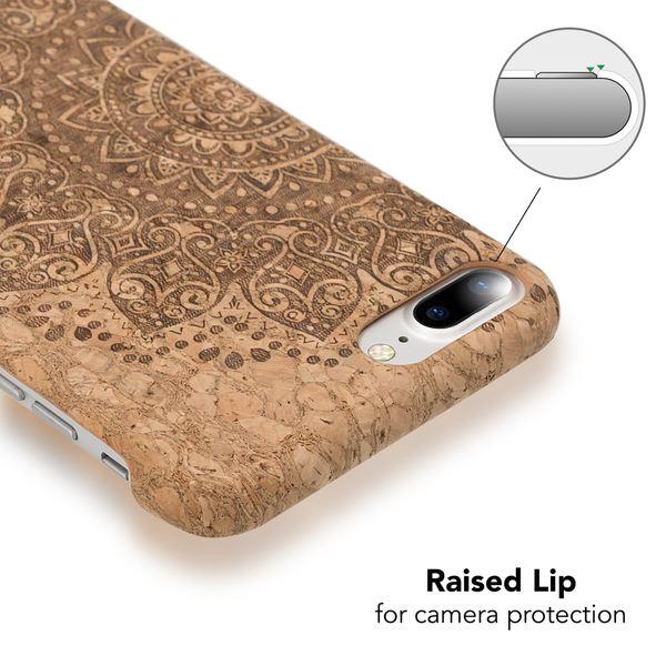 NALIA Kork Hülle kompatibel mit iPhone 8 Plus / 7 Plus, Natur-Holz Look Handyhülle Handy-Tasche Dünnes Ultra-Slim Hardcase Schutz Etui Back-Cover Bumper Case Schutzhülle – Bild 21