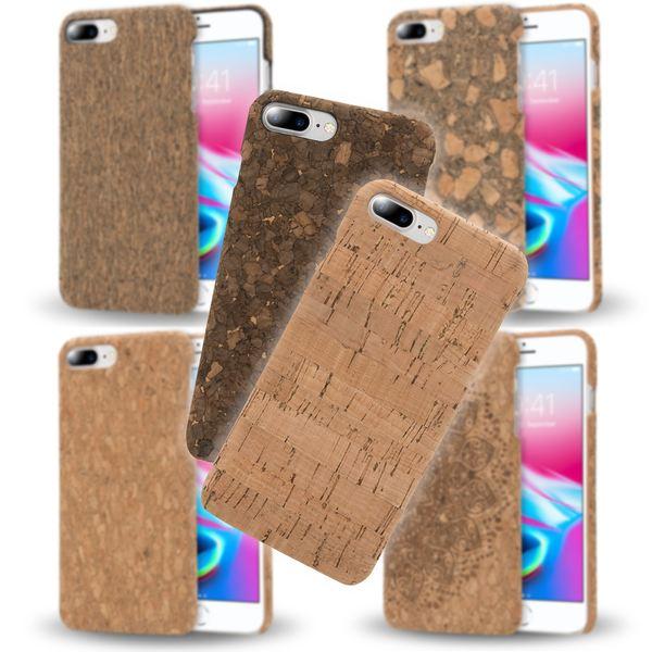 iPhone 8 Plus / 7 Plus  Kork Hülle Handyhülle von NALIA, Natur-Holz Look Handy-Tasche Dünnes Ultra-Slim Hard-Case Schutz Etui Back-Cover Bumper für Apple i-Phone 7+ / 8+ – Bild 1