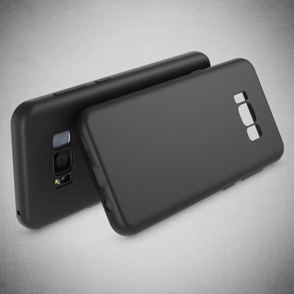 NALIA Rundum Hülle kompatibel mit Samsung Galaxy S8, TPU Rahmen vorne & hinten Dünnes Silikon Case, Doppel-Schutz Ultra-Slim Bumper, Full-Body Handyhülle Vorder & Rückseite - Schwarz – Bild 6
