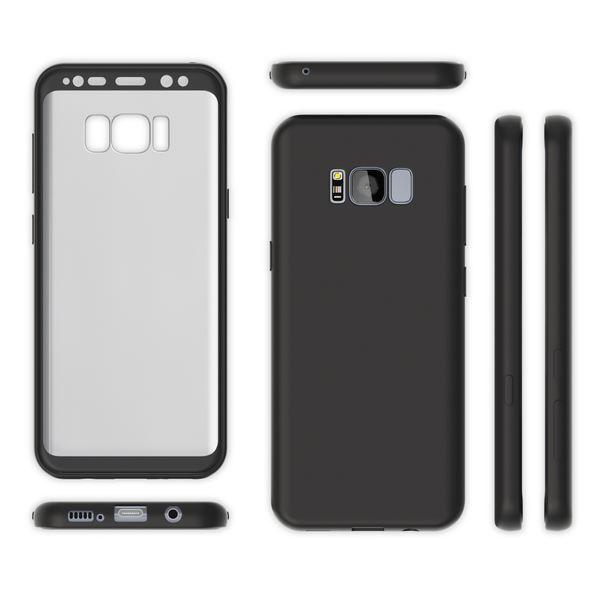 NALIA Rundum Hülle kompatibel mit Samsung Galaxy S8, TPU Rahmen vorne & hinten Dünnes Silikon Case, Doppel-Schutz Ultra-Slim Bumper, Full-Body Handyhülle Vorder & Rückseite - Schwarz – Bild 3