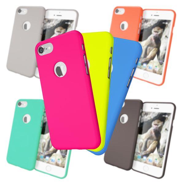iPhone 7 Hülle Handyhülle von NALIA, Ultra-Slim TPU Silikon Neon Case, Dünnes Phone Cover Gummi Schutzhülle Skin, Etui Handy-Tasche Backcover Bumper für Apple i-Phone 7 Smartphone – Bild 1