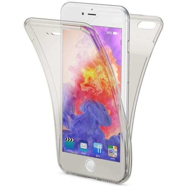 NALIA 360 Grad Handyhülle kompatibel mit Apple iPhone 6 Plus 6S Plus, Full Cover vorne hinten Doppel-Schutz, Dünnes Ganzkörper Case Silikon, Transparenter Displayschutz & Rückseite – Bild 2