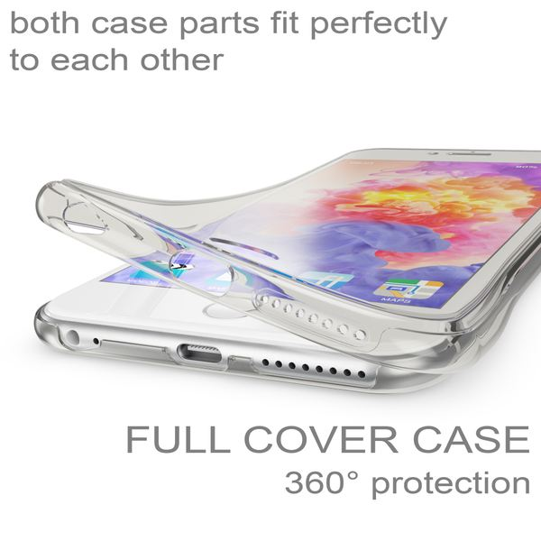 NALIA 360 Grad Handyhülle kompatibel mit Apple iPhone 6 Plus 6S Plus, Full Cover vorne hinten Doppel-Schutz, Dünnes Ganzkörper Case Silikon, Transparenter Displayschutz & Rückseite – Bild 3