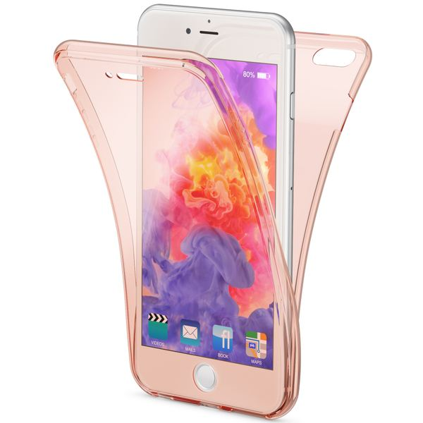 NALIA 360 Grad Handyhülle kompatibel mit Apple iPhone 6 Plus 6S Plus, Full Cover vorne hinten Doppel-Schutz, Dünnes Ganzkörper Case Silikon, Transparenter Displayschutz & Rückseite – Bild 9