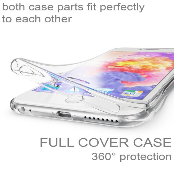 NALIA 360 Grad Handyhülle kompatibel mit Apple iPhone 6 Plus 6S Plus, Full Cover vorne hinten Doppel-Schutz, Dünnes Ganzkörper Case Silikon, Transparenter Displayschutz & Rückseite – Bild 17