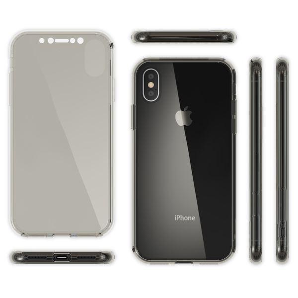 NALIA 360 Grad Handyhülle für Apple iPhone X XS, Full-Cover vorne hinten Rundum Hülle Doppel-Schutz, Dünn Ganzkörper Case Silikon Etui Handytasche Displayschutz Rückseite – Bild 12