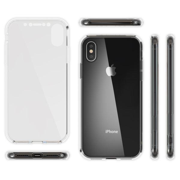 NALIA 360 Grad Handyhülle für Apple iPhone X XS, Full-Cover vorne hinten Rundum Hülle Doppel-Schutz, Dünn Ganzkörper Case Silikon Etui Handytasche Displayschutz Rückseite – Bild 6