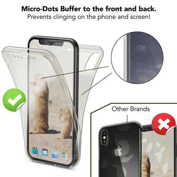 NALIA 360 Grad Handyhülle für Apple iPhone X XS, Full-Cover vorne hinten Rundum Hülle Doppel-Schutz, Dünn Ganzkörper Case Silikon Etui Handytasche Displayschutz Rückseite – Bild 10