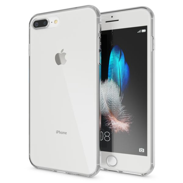 NALIA 360 Grad Handyhülle kompatibel mit Apple iPhone 7 Plus / 8 Plus, Full Cover vorne hinten Doppel-Schutz Dünnes Ganzkörper Case Silikon Transparenter Displayschutz & Rückseite – Bild 8