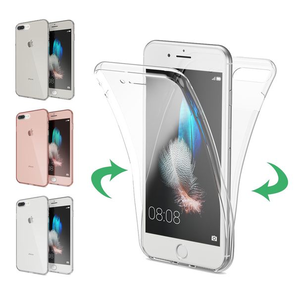 NALIA 360 Grad Handyhülle kompatibel mit Apple iPhone 7 Plus / 8 Plus, Full Cover vorne hinten Doppel-Schutz Dünnes Ganzkörper Case Silikon Transparenter Displayschutz & Rückseite – Bild 1