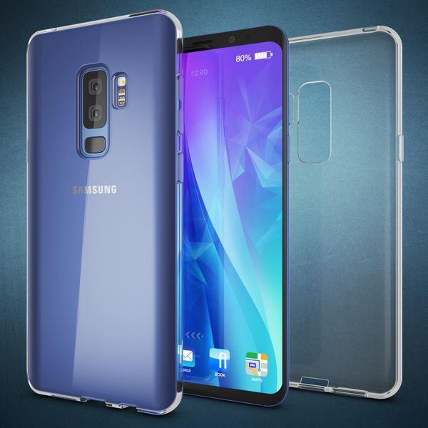 NALIA Handyhülle kompatibel mit Samsung Galaxy S9 Plus, Soft Slim TPU Silikon Case Cover Crystal Clear Schutzhülle Dünn Durchsichtig, Etui Handy-Tasche Backcover Transparent, Schutz Bumper – Bild 6