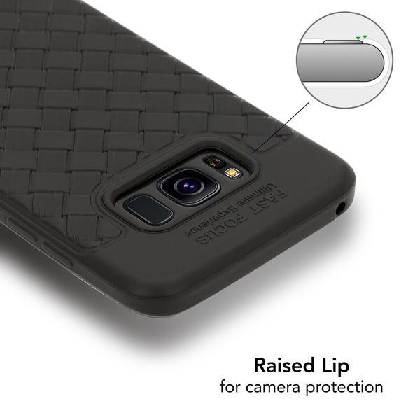 NALIA Handyhülle kompatibel mit Samsung Galaxy S8, Ultra-Slim gewebtes Muster TPU Silikon Case, Dünnes Cover Gummi Schutzhülle Skin, Etui Handy-Tasche Backcover Bumper – Bild 3