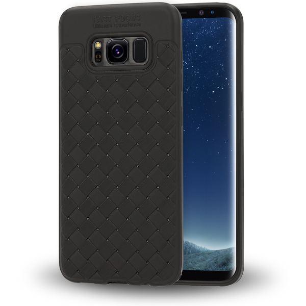 NALIA Handyhülle kompatibel mit Samsung Galaxy S8 Plus, Ultra-Slim gewebtes Muster TPU Silikon Case, Dünnes Cover Gummi Schutzhülle Skin, Etui Handy-Tasche Backcover Bumper – Bild 2