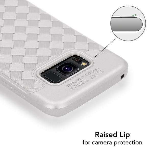 NALIA Handyhülle kompatibel mit Samsung Galaxy S8 Plus, Ultra-Slim gewebtes Muster TPU Silikon Case, Dünnes Cover Gummi Schutzhülle Skin, Etui Handy-Tasche Backcover Bumper – Bild 10