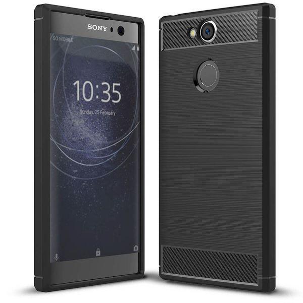 NALIA Handyhülle kompatibel mit Sony Xperia XA2, Ultra Slim Silikon Case Cover, Dünne Crystal Phone Schutzhülle, Etui Handy-Tasche Back-Cover Bumper, TPU Smartphone Gummihülle - Schwarz – Bild 1