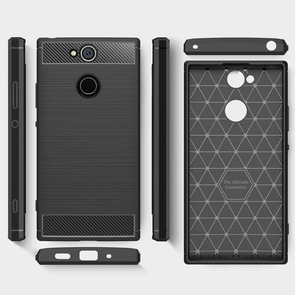 NALIA Handyhülle kompatibel mit Sony Xperia XA2, Ultra Slim Silikon Case Cover, Dünne Crystal Phone Schutzhülle, Etui Handy-Tasche Back-Cover Bumper, TPU Smartphone Gummihülle - Schwarz – Bild 5