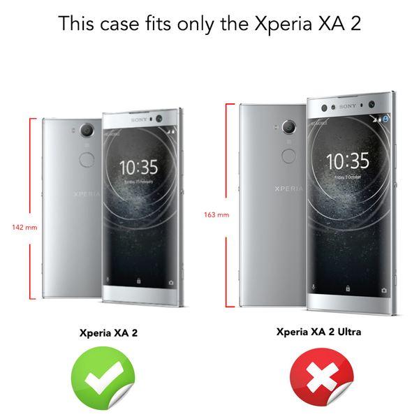NALIA Handyhülle kompatibel mit Sony Xperia XA2, Ultra Slim Silikon Case Cover, Dünne Crystal Phone Schutzhülle, Etui Handy-Tasche Back-Cover Bumper, TPU Smartphone Gummihülle - Schwarz – Bild 4